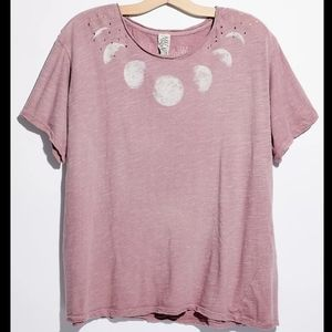 New magnolia pearl moon evolution phase tee pink T